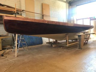 Progress made over the Melbourne lock down. Floors, shear plank and decking next to do. '1820' an original 21 footer.